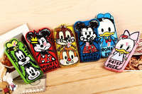 3D Minnie Mickey Mouse Soft Case For Iphone 5 5G 5S 4 4G 4S Bow Cartoon Silicone Gel Cute Skin Cover Rubber Back Cases 50PCS