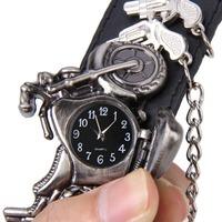 2014 New Punk Gun Motor Brand Wholesale Men's Wristwatch Cool Leather Watch Men Design Brecelet Dress Watch