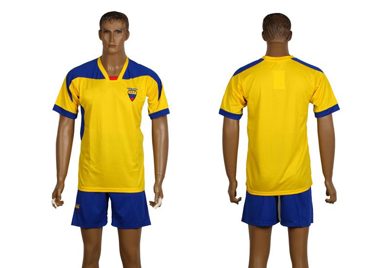 Ecuador Customizable hot sale Dedicated your uniforms ball No. National Sportswear soccer jerseys world cup(China (Mainland))