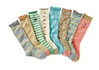 free shipping 2014 autumn winter 8pair/lot cotton children socks kids knee-high socks girl's socks