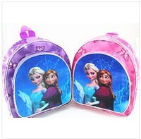 Free shipping new 2014 zipper school bags children kids girls boys softback backpack frozen 3-7 years old Y246