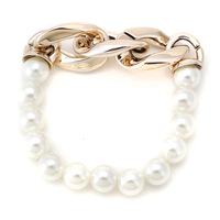 2014 New Fashion CCB Chain & Link Simple Chunky Pearl Bracelet Women Bracelets Bangles Men Jewelry Wholesale