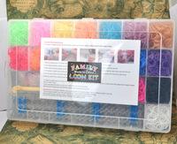 Free Shipping DHL/FEDEX/UPS Bracelet Loom Kit Plastic Box Bracelet (50 S clips +1 hook +4400 Rubber Bands +19colors) Storage Kit
