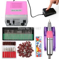 30,000 RPM PRO Pink Electric Acrylic Nail Art File Drill Manicure Set Pedicure Machine Tools Bits Kit