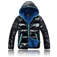 2014 winter male lovers with a hood wadded jacket fashionable casual all-match male wadded jacket outerwear