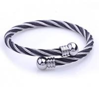 Charm Designer Fashion Jewelry 2014 Men Titanium Steel Cuff Bracelet Stainless Steel Opening adjustable Bracelet Bangle  SL158