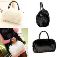 For Ladies Casual Mini Cross-body Bag Women Plush Fur Clutch Messenger Bag Shoulder Bags Female Leather Sweet Handbag