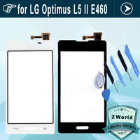 Original touch screen for LG Optimus L5 II E460 touch display glass digitizer  replacement black or white+ tools + sticker