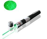 Free shipping long-range 2000 meters Green Laser Pointer 100mw laser pen With Star Head / Laser Kaleidoscope Light Wholesale