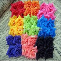 100Pcs/bag 4CM  Six Corner Silk Rose Flower Head Diy Material Flowers Wedding Decoration Festival Decor