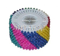 Multicolor Pearl Round Head Pins,Decorative/Dressmaking/Sewing Pins, 480pcs
