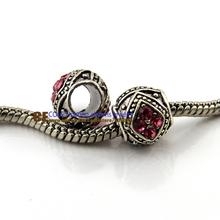 chunky beads 925 silver tibetan silver Murano Glass Beads Europe Fits pandora Bracelets Charm necklaces & pendants KEPJ006