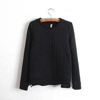 New 2014 Autumn Warm Sweatshirt Women Plus Size Thicken Embossed Printed Pullovers Fashion Casual Zipper Hoodies Moleton Coat