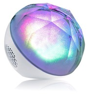 Free Shipping New wireless Bluetooth speaker with remote control  Magic color ball led flash portable mini speaker with TF slot