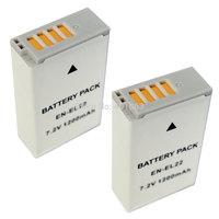Micro single camera Li-ion 2x Battery for NOKIN 1 S2 J4 EN-EL22 ENEL22