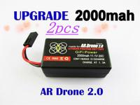 2pcs  Parrot ar drone battery 2000mAH li-po