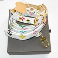designer dog pu leash + collar 2pc set colorful print  pets lead high quality leather white