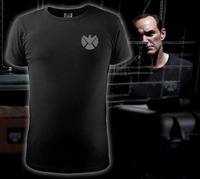 Men T-shirt Agents of S.H.I.E.L.D. LOGO Slim Black Cotton T Shirt Agent Phil Coulson O-Neck Shirt Tops Tees