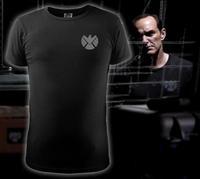T-shirt Agents of S.H.I.E.L.D. LOGO Slim Black Cotton T Shirt Agent Phil Coulson O-Neck Shirt Tops Tees