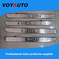 Top Seller ! High Quality  Stainless Steel WISH LED Scuff Plate,Led  Door Sill Plate,  Led Door Sill for WISH