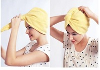 Free shipping ultrafine fiber dry hair towel dry hair hat super absorbent quick-drying towel 4pcs/lot