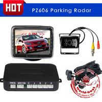 Professional LCD screen Car Parking Sensor Reverse PZ606 Backup Radar System with Backlight Display+4 Sensors Free shipping