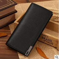 Free shipping , wholesale ,men's wallet, Brand name genuine Leather Wallet for men , Gent  Leather purses hot fashion,BLACK