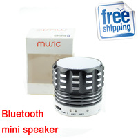 New Arrival Support TF Card Bass Audio player Metallic materials Wireless Bluetooth Speakers Portable Mini Speaker For PC MP3