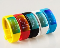 Smart 3D USB watch bracelet wristband LED display screen with pedometer 8GB U Disk memory card