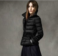 free shipping new 2014 winter autumn women down parkas female ladies warm cold-proof winered black elegant thicken Y254