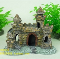 Mini Forgotten Castle Ruins for aquarium ornament fish tank decoration free shipping