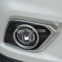 ABS Chrome Front Fog Light Lamp Cover Trim fit For Nissan X-Trail Rogue 2014+
