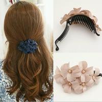 Classic Korean Fashion Floral Hair Accessories Cloth Flower Hair Clip Hairpin Women SF434