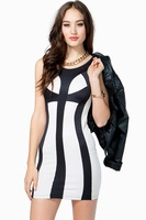 2014 New Fashion Women Ddress Slim dresses Party sexy bodycon dress black free shipping W9113