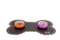 Free Shpping Dog  Pet Mats Small/Medium Dog Bowl Place Mat with Bone Design Lace Pet Placemat 3Pcs/Lot