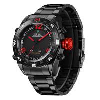 Fashion Watches 2014 New Style WEIDE Hardlex Black Men Full Steel Watch Analog Movement Quartz Wristwatches Hot Promotions