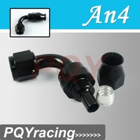 J2 Racing Store- Black High Quality PTEF AN4 AN-4 90DEGREE REUSABLE SWIVEL TEFLON HOSE END FITTING AN4
