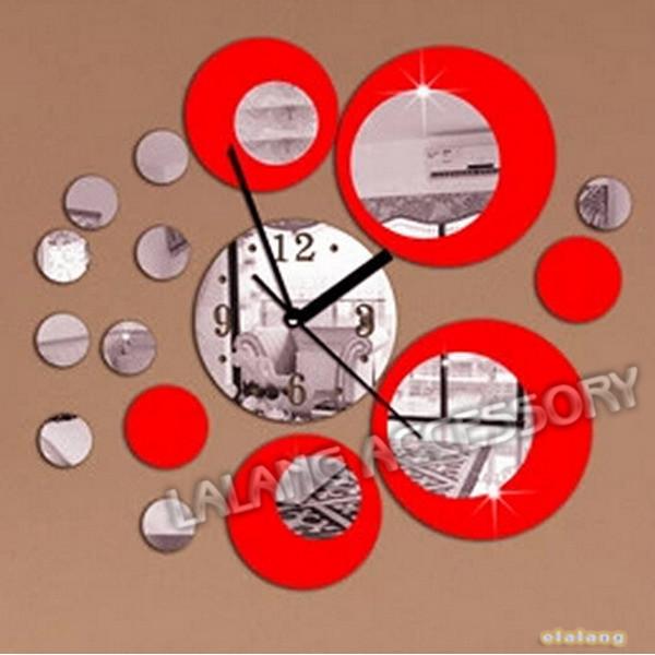 Achetez en gros mur rouge horloge moderne en ligne des for Horloge murale design rouge