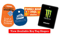 Plastic Key Tag Small Full Color + free shipping