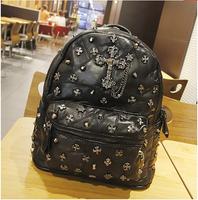 Big high-end European fashion sheepskin leather backpack bag retro shoulder bag Cross