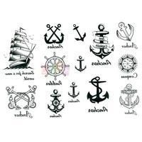 New Fashion Body Art Temporary Removable Nautical Sailor Theme Tattoo Stickers