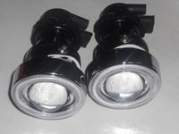 Free shipping H3 Fog projector light HID projector lens Kit Bi-xenon HID angel eyes luces de xenon fog lights for car