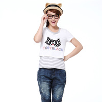 A02 women's spring sweet twinset slim short-sleeve T-shirt d1n5a0651kt