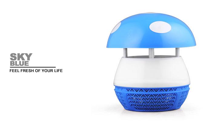Novo tipo forma de cogumelo fotocatálise Mosquito matança da lâmpada repelente de mosquitos lâmpada com 6 LED contas de luz(China (Mainland))