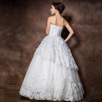 wedding dress Korean Bra princess bride wedding tutu sweet summer H13830