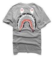 Bape Shark Head  camo Military Print Lovers short sleeve T shirt 100% cotton 3 colors yy121