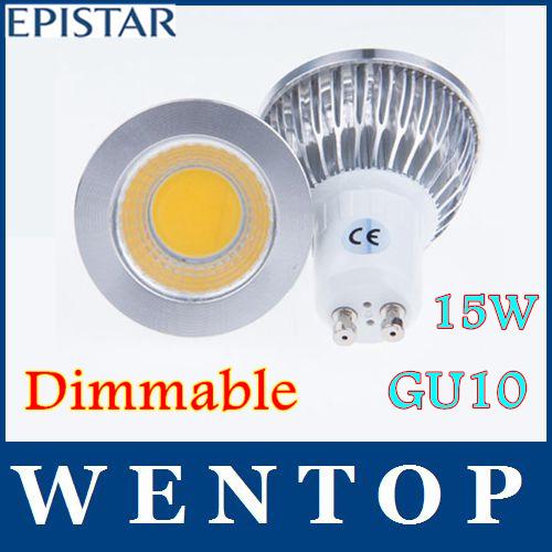 10 pezzi gu10 15w pannocchia portato dimmerabile sport luce ad alta potenza della lampada lampadina più di 120 ac85-265v gradi