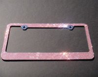 45 colors available Free shipping(10pcs/lot) wholesale Fashion baby pink crystal license plate frame for USA market