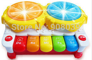 Hot Sale Light-Up Music Drum Electronic Multifunctional Hand Drum Keyboard Childhood Learning Musical Toys For Children(China (Mainland))