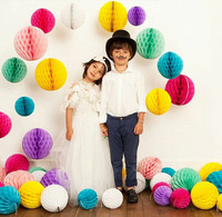 Hot Sale!!! 20cm 10pcs Tissue Paper Honeycomb Balls Festival Decorations Wedding Party
